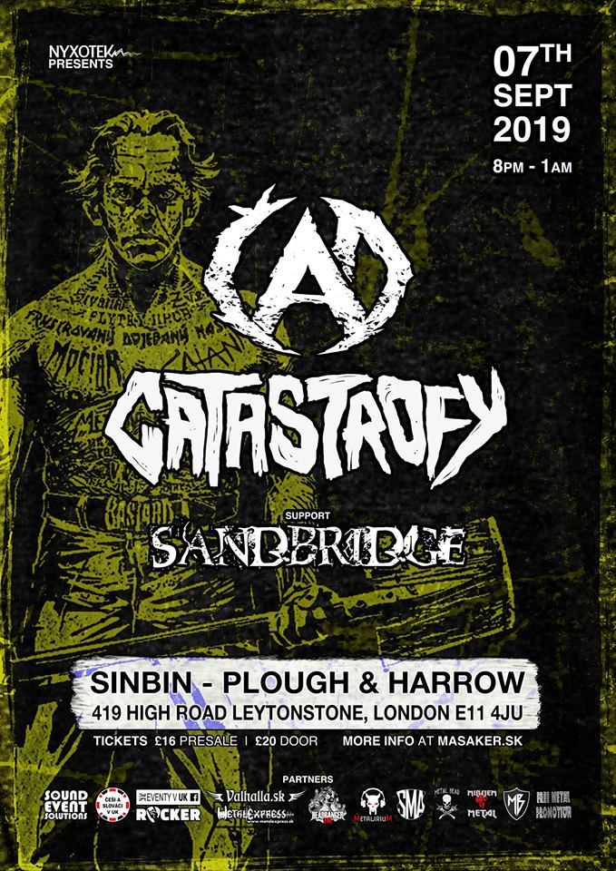 Slovak hard n'heavy heroes Čad + Catastrofy for the first time live in the UK!