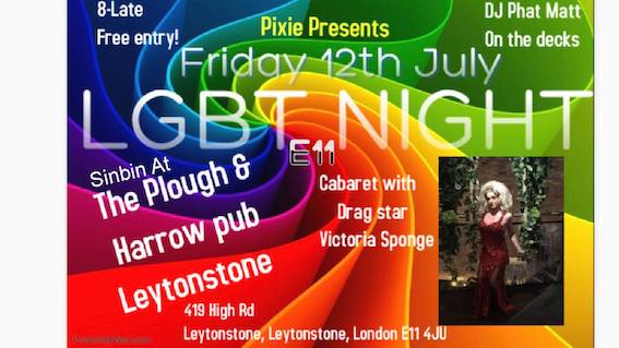 Pixie presents : First LGBT event at the SinBin!