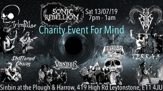 Sonic Rebellion Benefit for the Mental Health Charity Mind