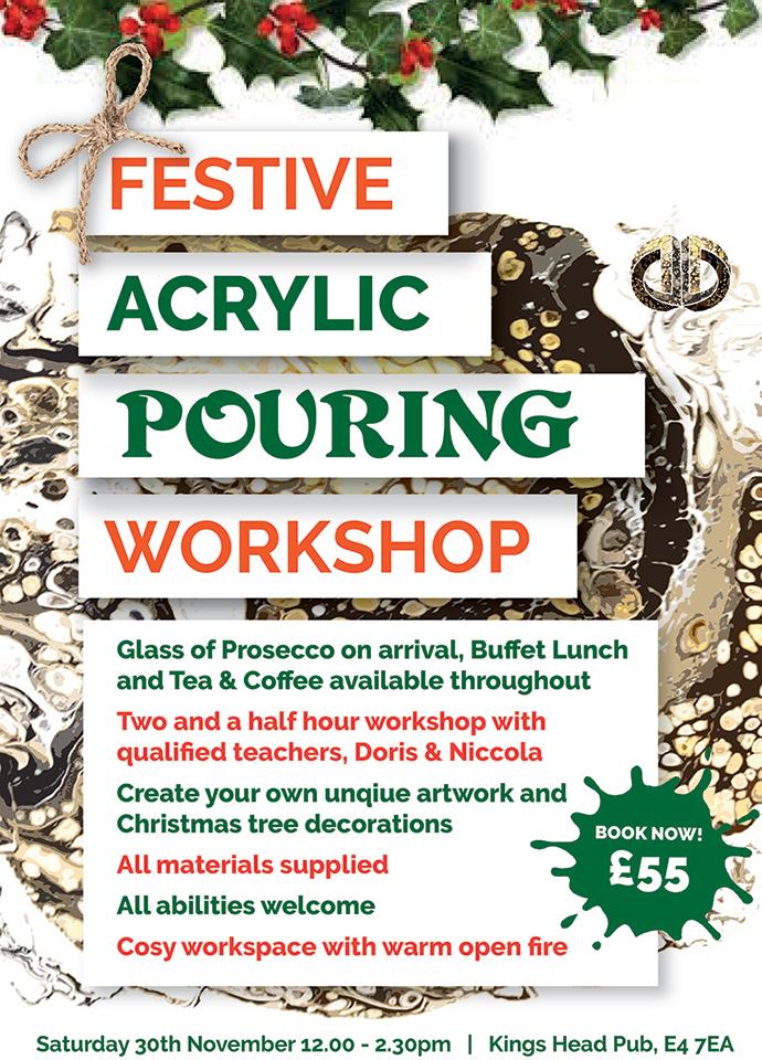 Festive Acrylic Pour Workshop