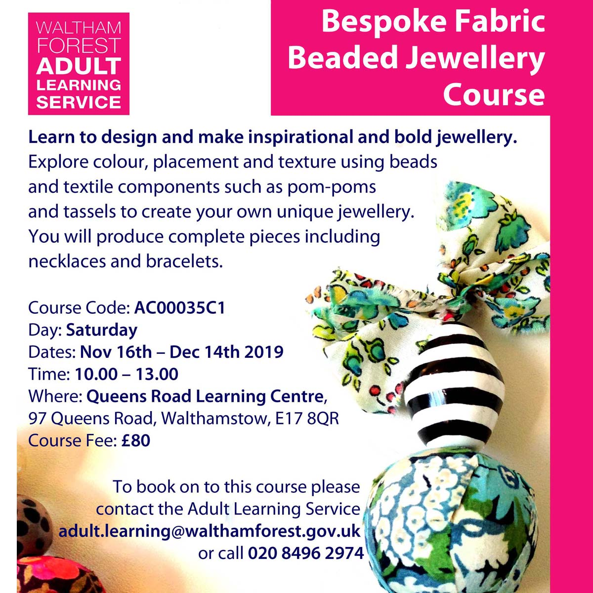 Bespoke Beaded Jewellery Course