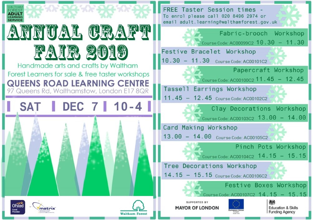 Annual Craft Fair - Waltham Forest Adult Learning Service