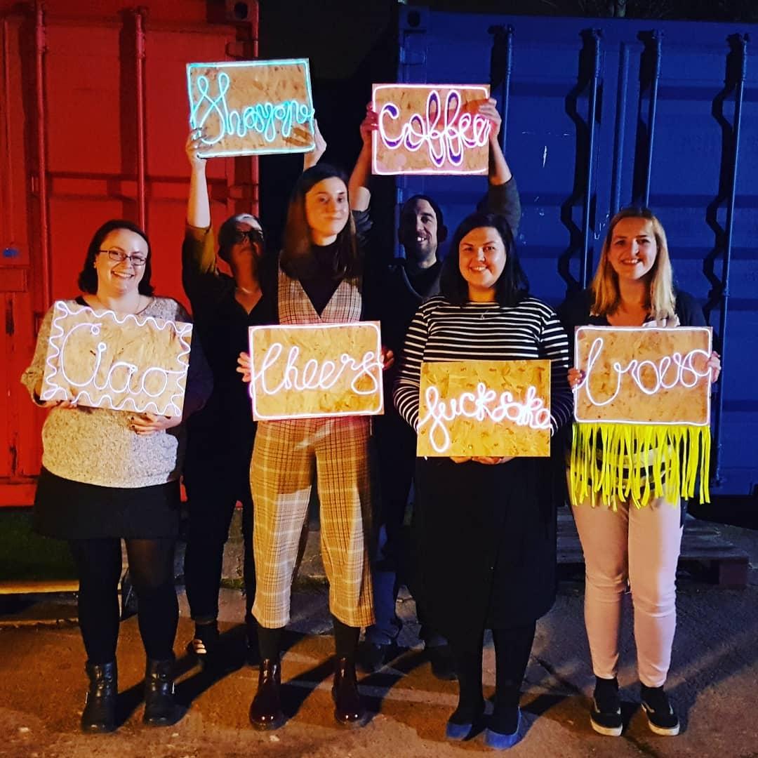 Neon Sign Making Workshop at Craftworks