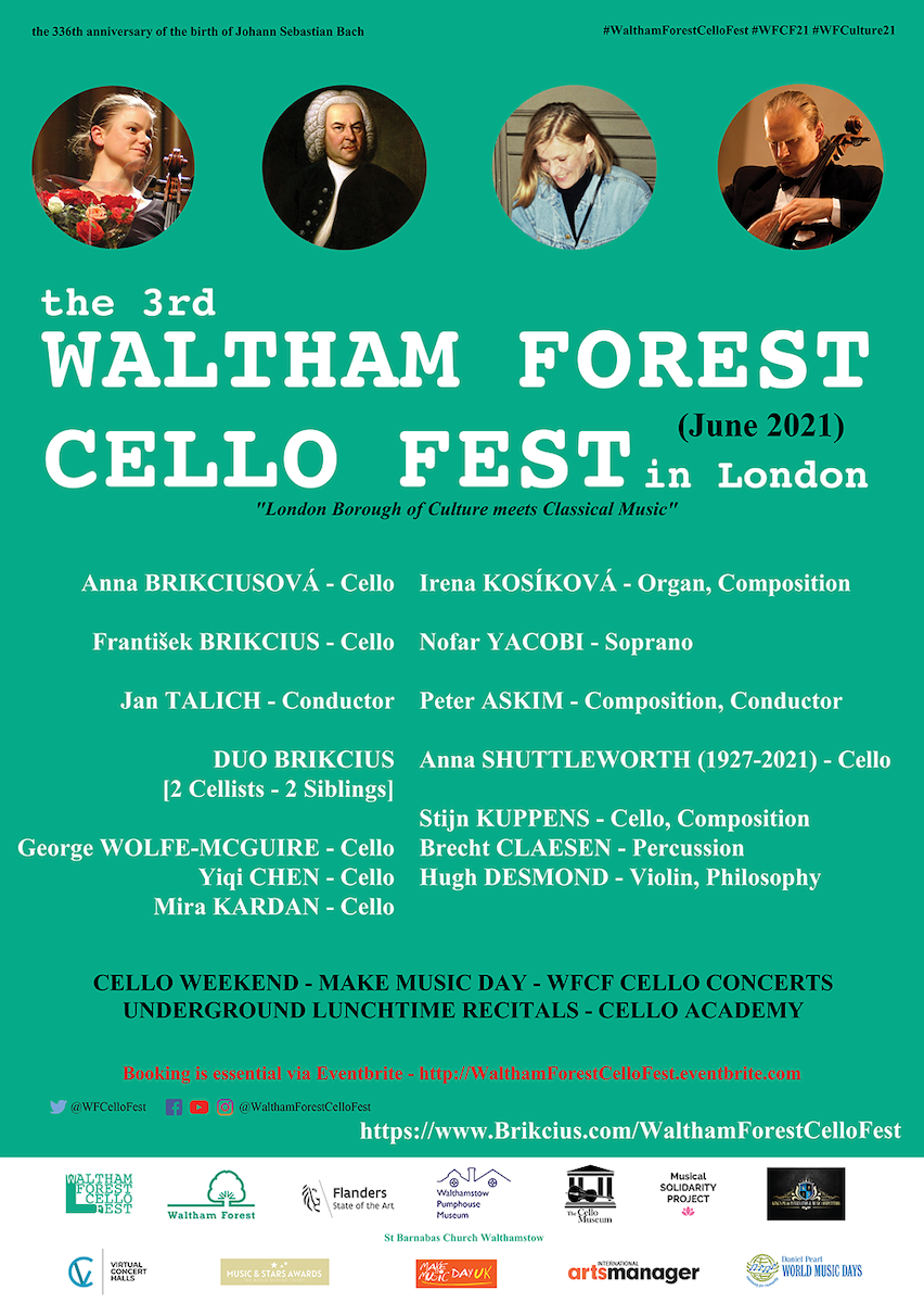 The 3rd WALTHAM FOREST CELLO FEST 2021 in London - SAVE THE QUEEN