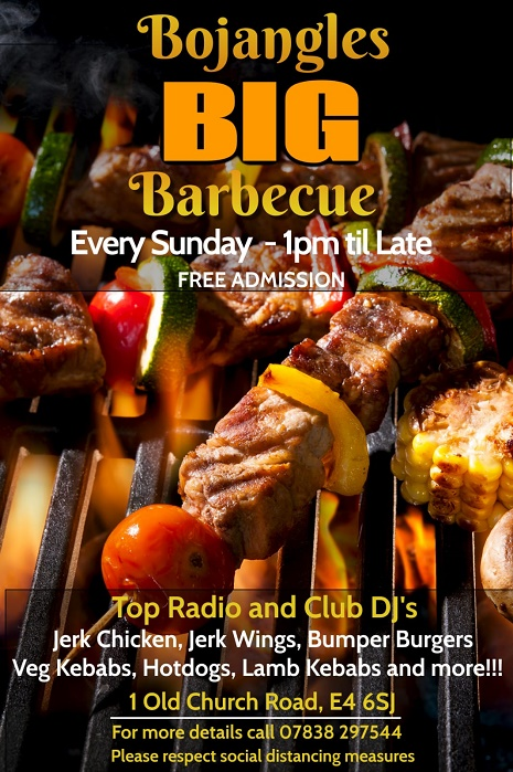 Your Big Sunday Barbeque in Chingford – Dine in at Bojangles this June
