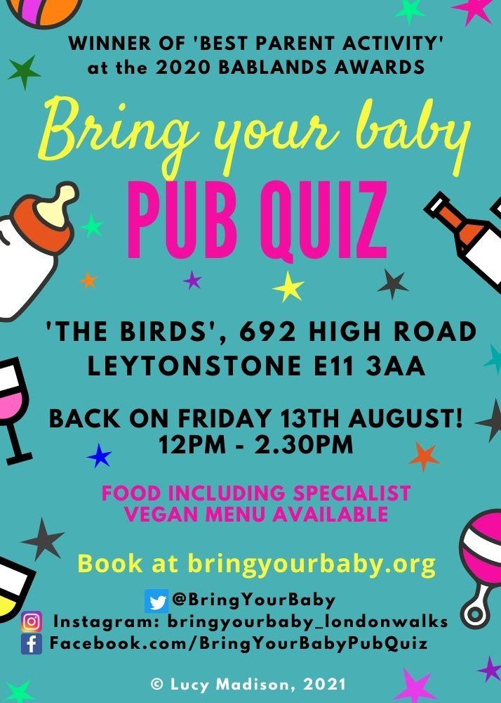 Bring Your Baby Pub Quiz